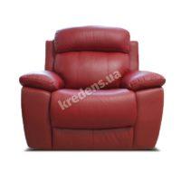 Польское кожаное кресло-реклайнер 0953