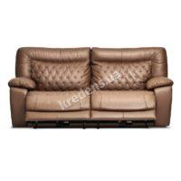 Итальянский кожаный диван с электрическими реклайнерами 1014