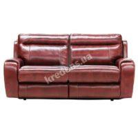 Польский кожаный раскладной диван 0954