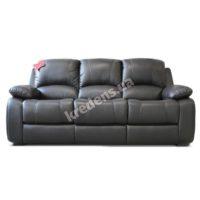 Польский кожаный раскладной диван 1094