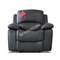 Польское кожаное кресло с реклайнером 1102
