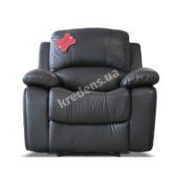 Польское кожаное кресло с механическим реклайнером 1102
