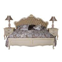 Классическая двуспальная кровать Milano 4254