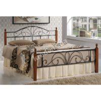 Кованная кровать из натурального дерева 2317