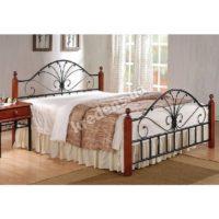 Кованная кровать из натурального дерева 2321