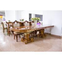 Раскладной классический обеденный стол 6487