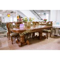 Раскладной классический обеденный стол 6489